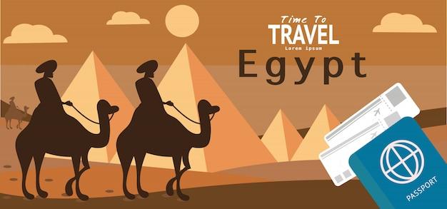 Egipt podróży wakacje wakacje tapeta, sztandar, tło