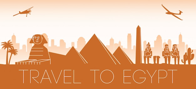 Egipt sławny punkt orientacyjny