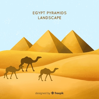 Egipt tło z krajobrazem