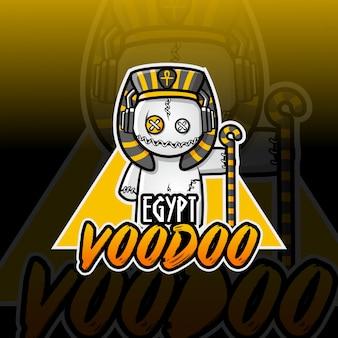 Egipt voodoo maskotka logo projektu e-sport