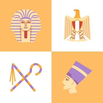 Egipt w stylu płaski