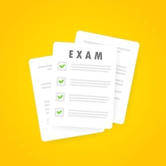 Egzaminowy papierowy baner