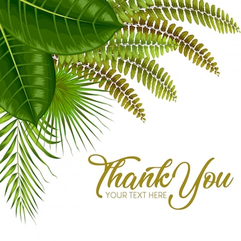 Egzotyczne tropikalne liście zaproszenie karty