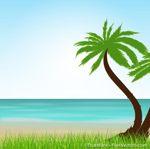 Egzotyczne wakacje latem tle pejzaż