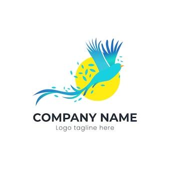 Egzotyczny ptak latający logo koncepcja projektowanie logo firmy