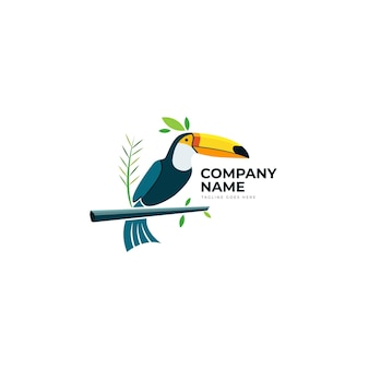Egzotyczny ptak logo szablon wektor