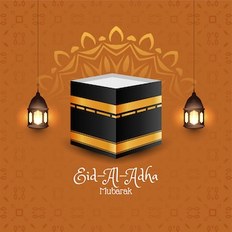 Eid al-adha mubarak islamski festiwal tło