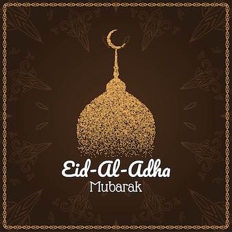 Eid al adha mubarak islamskie tło