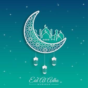Eid al adha mubarak obchody festiwalu społeczności muzułmańskiej