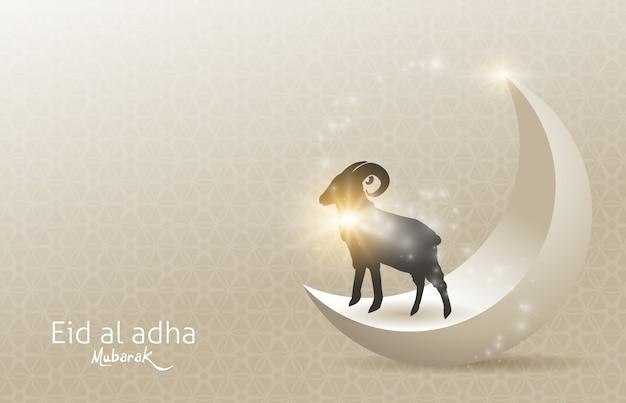 Eid al adha mubarak obchody projektu tła festiwalu społeczności muzułmańskiej.