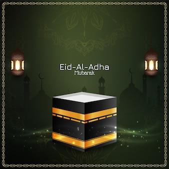 Eid al adha mubarak piękne powitanie tło