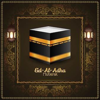 Eid al adha mubarak religijne tło islamskie