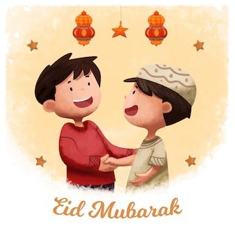 Eid al fitr islamskie tło