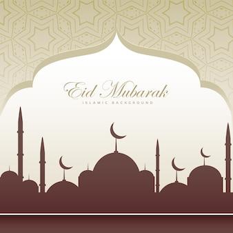 Eid festiwalu karty pięknym tle