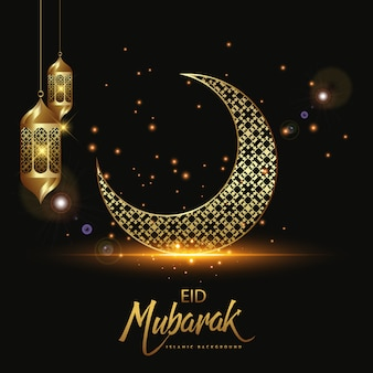 Eid mubarak dekoracyjny religijny