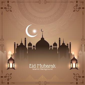 Eid mubarak islamski festiwal klasyczne tło