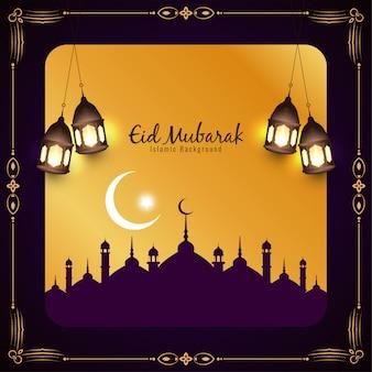 Eid mubarak islamski tło festiwalu