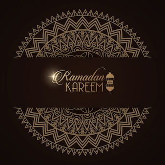 Eid mubarak karta z mandala ramy ilustracyjnym projektem