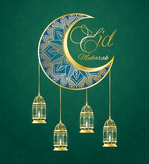Eid mubarak lampy wiszące wiszące z księżyca