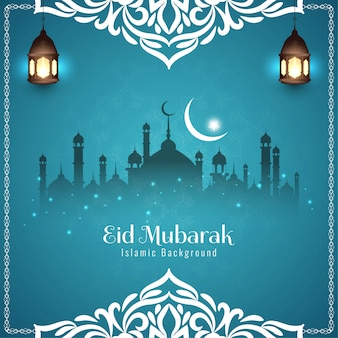Eid mubarak na powitanie festiwalu niebieski