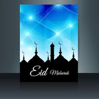 Eid mubarak nowoczesne ulotki