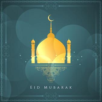 Eid mubarak religijnych tle