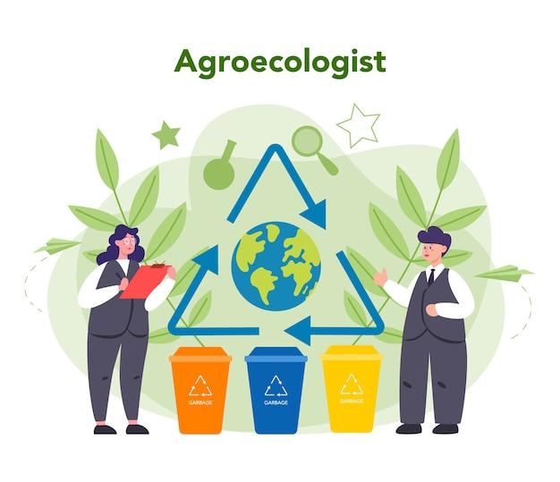 Ekolog dbający o koncepcję ziemi i przyrody