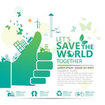 Ekologia i ochrona środowiska koncepcja kreatywna