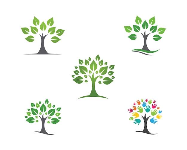 Ekologia Liści Natura Logo Szablon Premium Wektorów