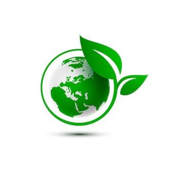 Ekologia organiczna zielona planeta ziemia