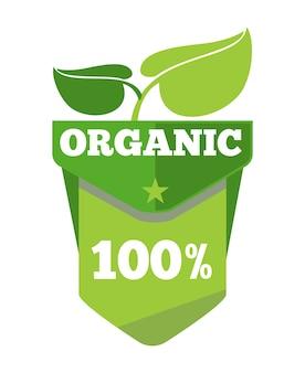 Ekologiczna etykieta ekologiczna z liśćmi