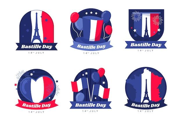 Ekologiczna kolekcja odznak z płaskim dniem bastylii