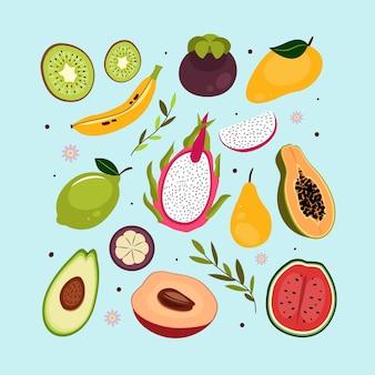Ekologiczna kolekcja płaskich owoców