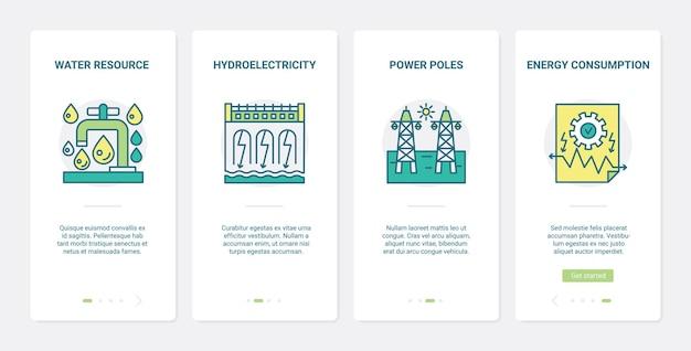 Ekologiczna technologia produkcji energii ux wprowadzająca środowisko ekranu aplikacji mobilnej