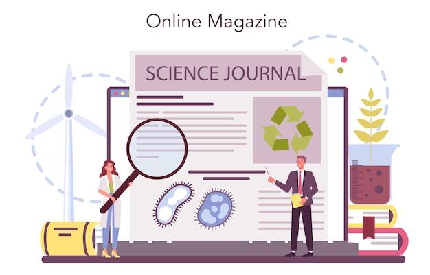 Ekologiczna usługa lub platforma internetowa