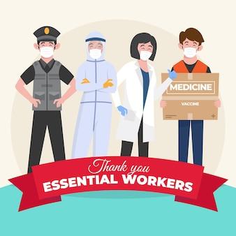 Ekologiczne mieszkanie dziękuję niezbędnym pracownikom