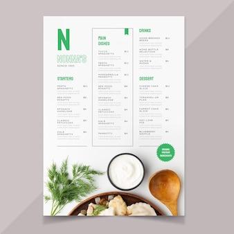 Ekologiczne mieszkanie rustykalne menu restauracji