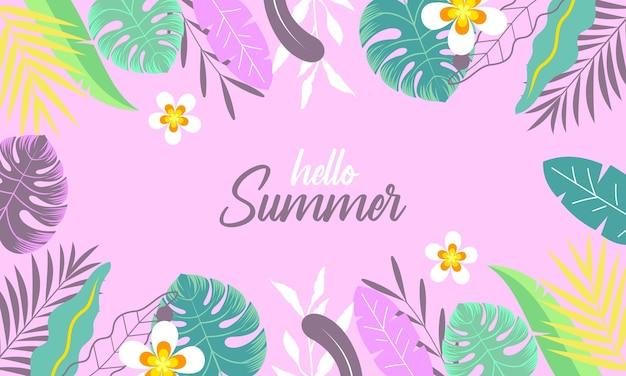Ekologiczne płaskie lato tło wektor