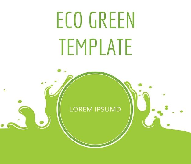 Ekologiczne zielone ekologiczne szablon transparent
