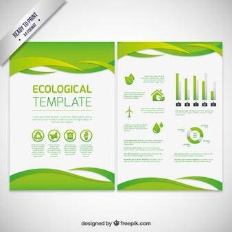 Ekologiczny abstrakcyjna broszura