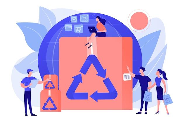 Ekologiczny I Nadający Się Do Recyklingu Pojemnik Darmowych Wektorów