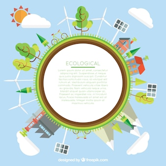 Ekologiczny świat szablonu