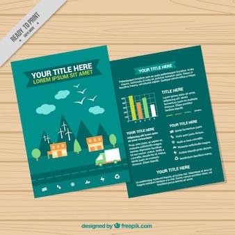 Ekologiczny szablon infografika