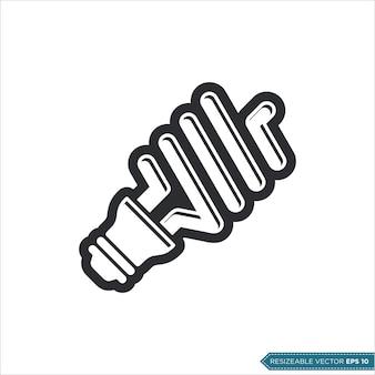 Ekonomiczna żarówka ikona wektor szablon