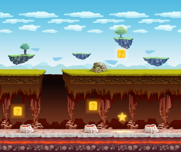 Ekran do gry podziemna podłoga gry elektronicznej