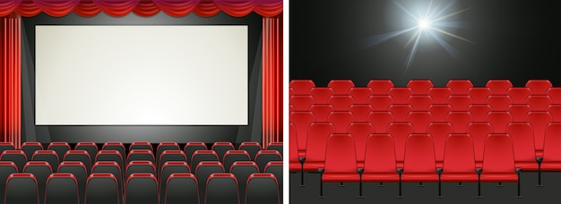 Ekran filmowy w kinie