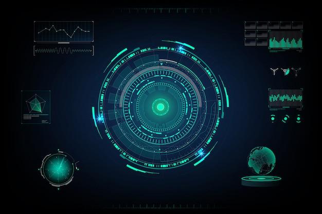 Ekran futurystyczny design