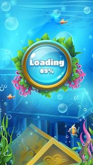 Ekran ładowania gier podmorskich