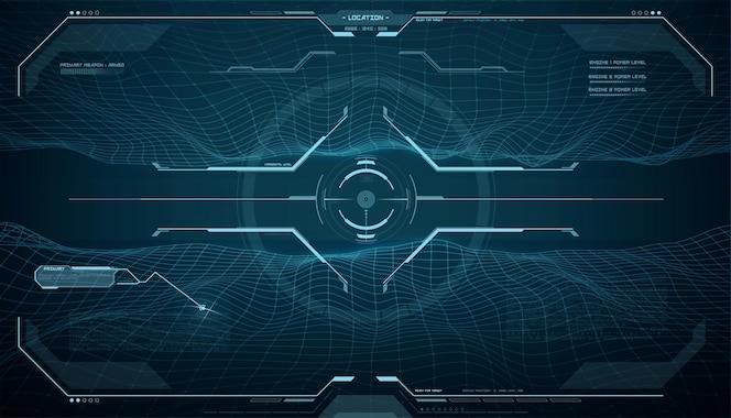 Ekran monitora hud, interfejs kontroli celu;