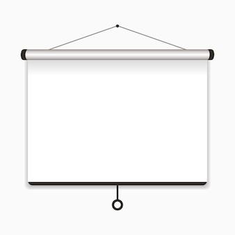 Ekran projekcyjny. pusta tablica prezentacyjna na konferencję. ilustracja wektorowa.